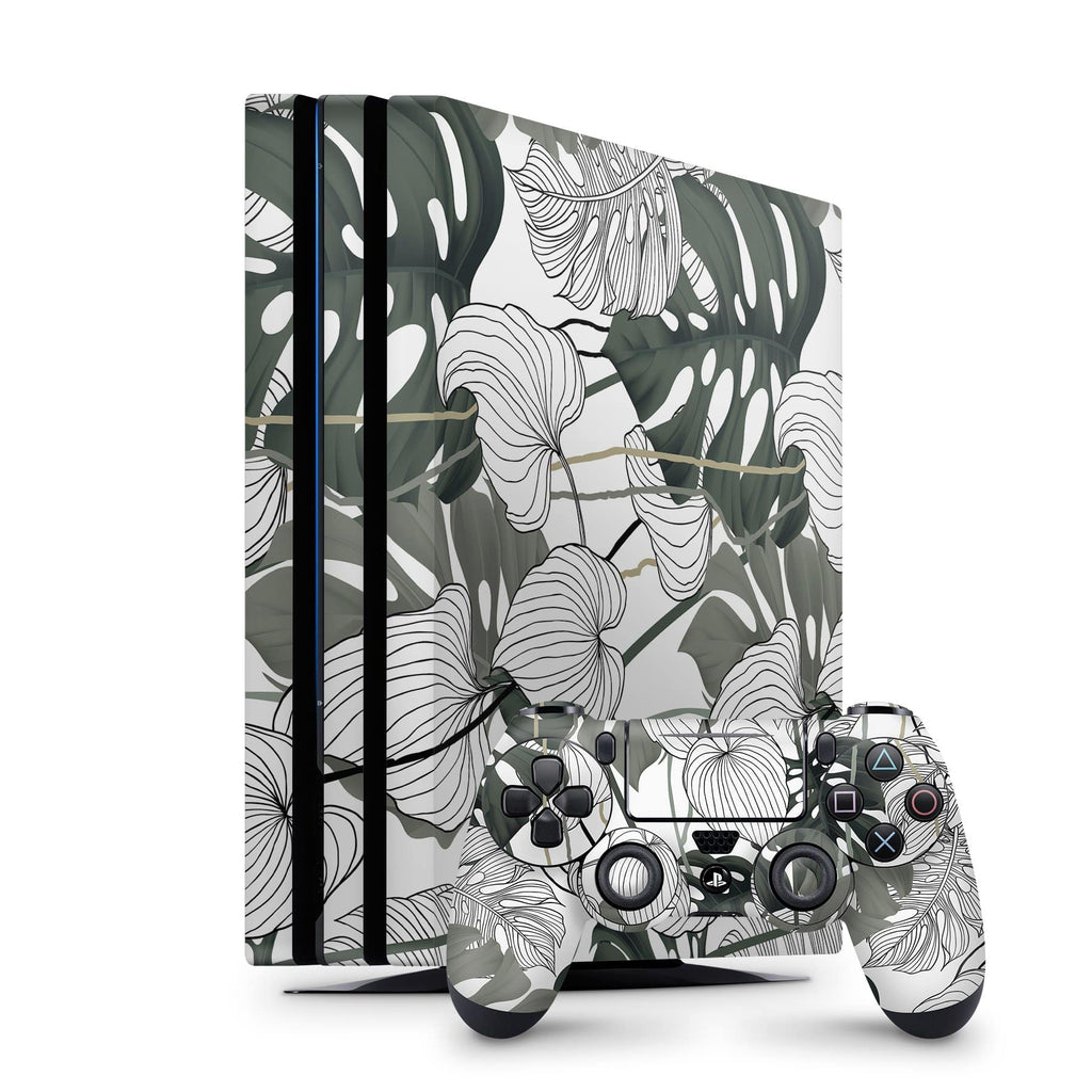 Decal Kings PlayStation 4 Skin PlayStation 4 Pro / Console + Controllers Jungle Leaves PS4 Skin