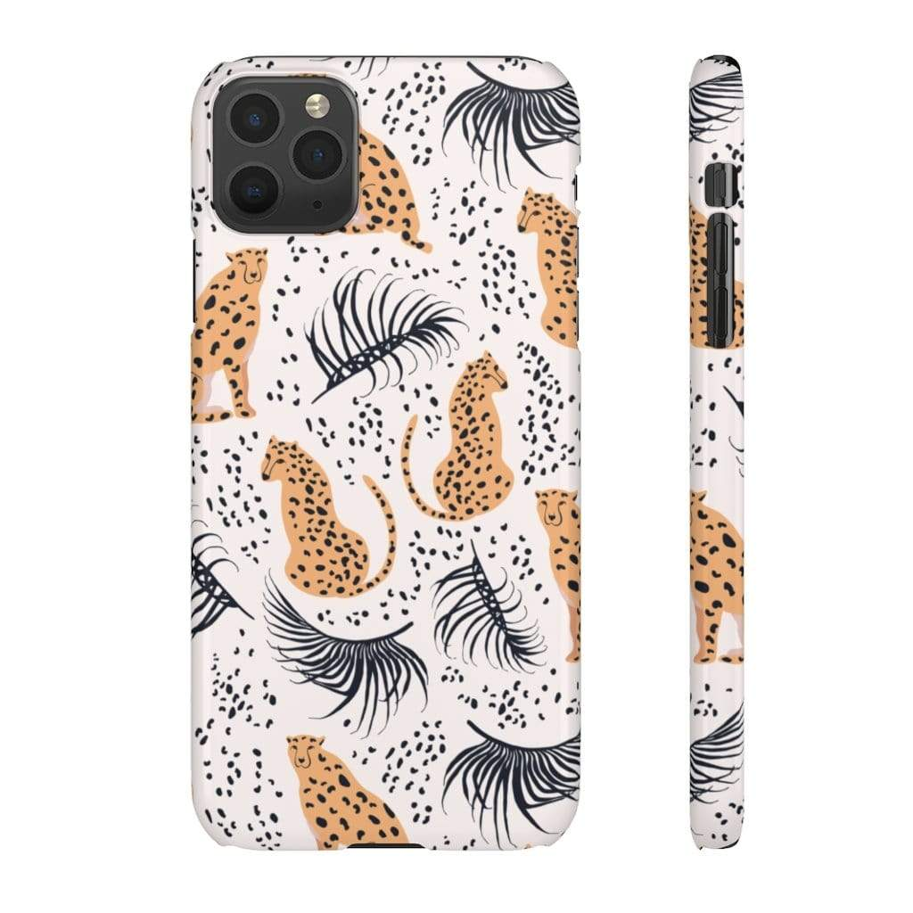 Printify Phone Case iPhone 11 Pro Max / Glossy Leopard IPhone Snap Case