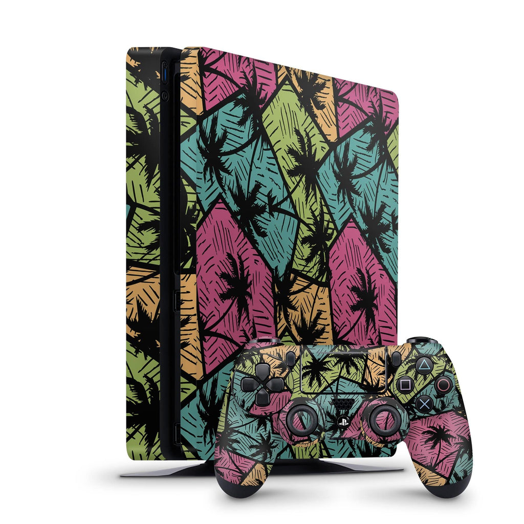 Decal Kings PlayStation 4 Skin PlayStation 4 Slim / Console + Controllers Palm Trees PS4 Skin