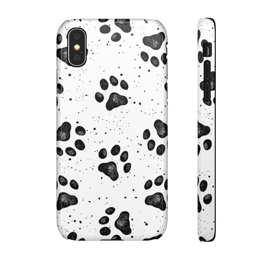 Printify Phone Case iPhone X / Glossy Paws IPhone Snap Case