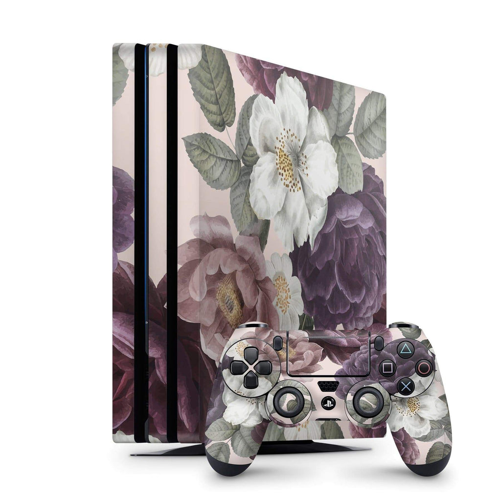 Decal Kings PlayStation 4 Skin PlayStation 4 Pro / Console + Controllers Pink Flowers PS4 Skin