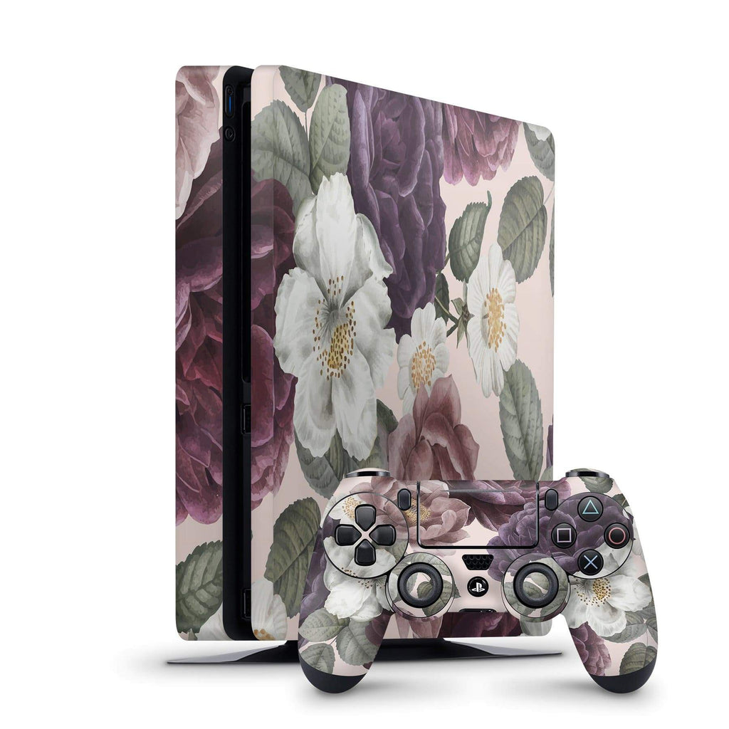 Decal Kings PlayStation 4 Skin PlayStation 4 Slim / Console + Controllers Pink Flowers PS4 Skin