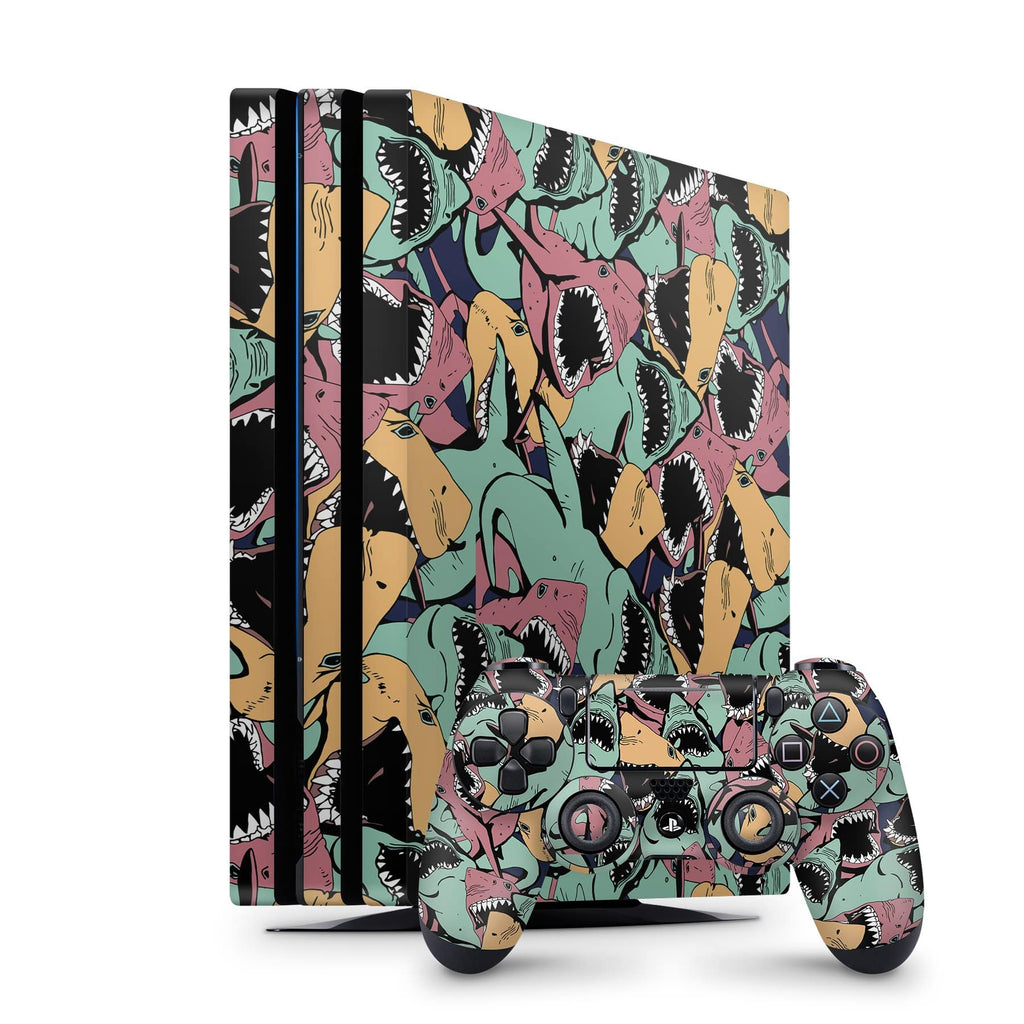 Decal Kings PlayStation 4 Skin PlayStation 4 Pro / Console + Controllers Sharks PS4 Skin