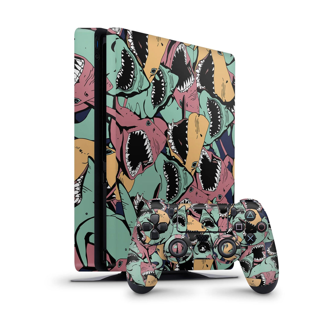 Decal Kings PlayStation 4 Skin PlayStation 4 Slim / Console + Controllers Sharks PS4 Skin