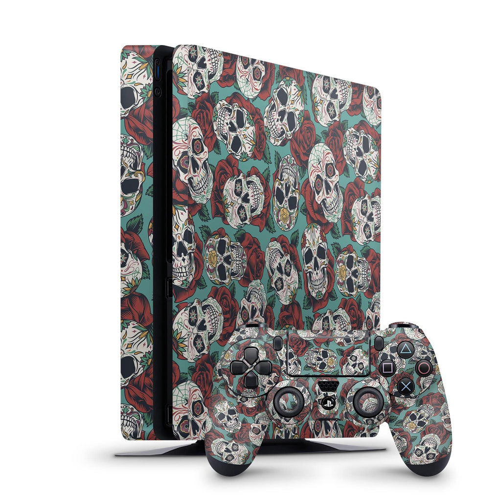 Decal Kings PlayStation 4 Skin PlayStation 4 Slim / Console + Controllers Skulls & Roses PS4 Skin