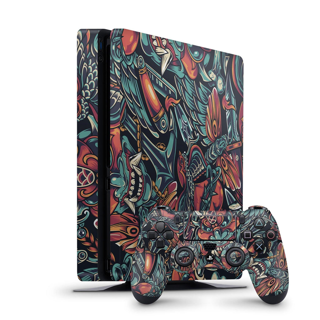 Decal Kings PlayStation 4 Skin PlayStation 4 Slim / Console + Controllers Tattoo PS4 Skin