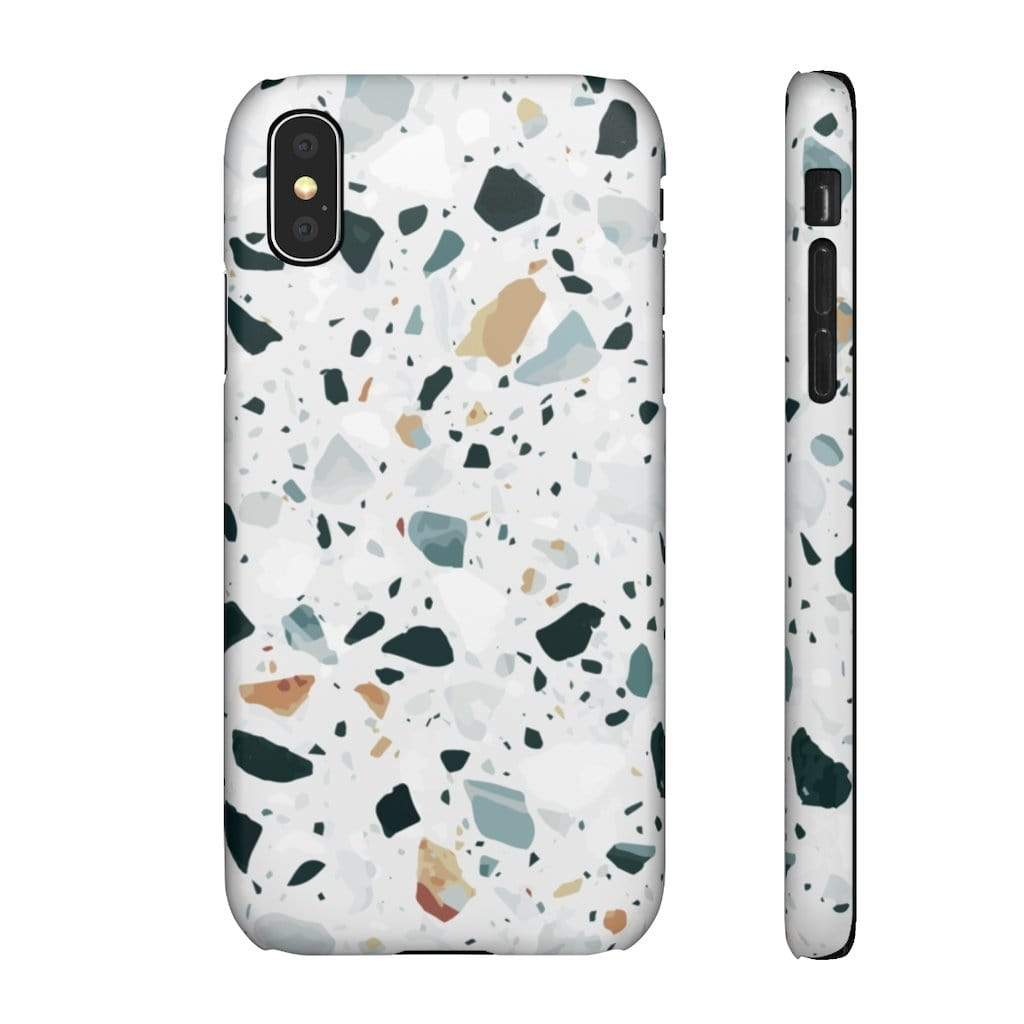 Printify iPhone Case iPhone X / Matte Terrazzo IPhone Snap Cases