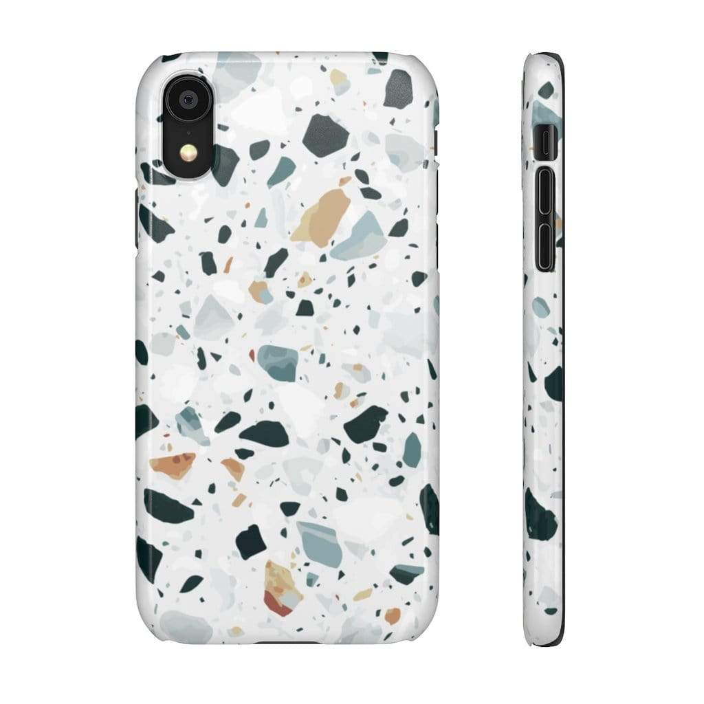 Printify iPhone Case iPhone XR / Glossy Terrazzo IPhone Snap Cases