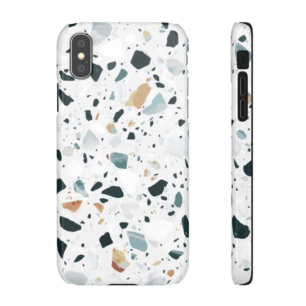 Printify iPhone Case iPhone XS / Glossy Terrazzo IPhone Snap Cases