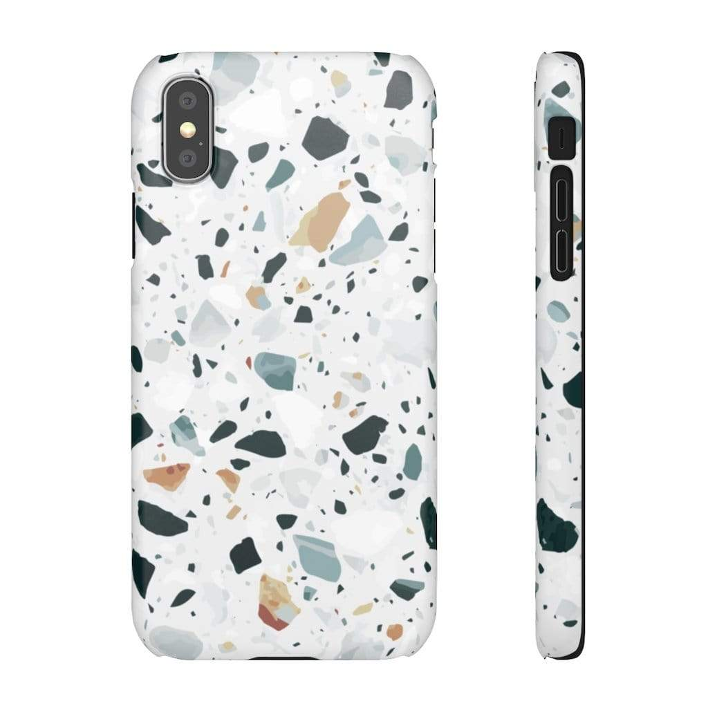 Printify iPhone Case iPhone XS / Matte Terrazzo IPhone Snap Cases