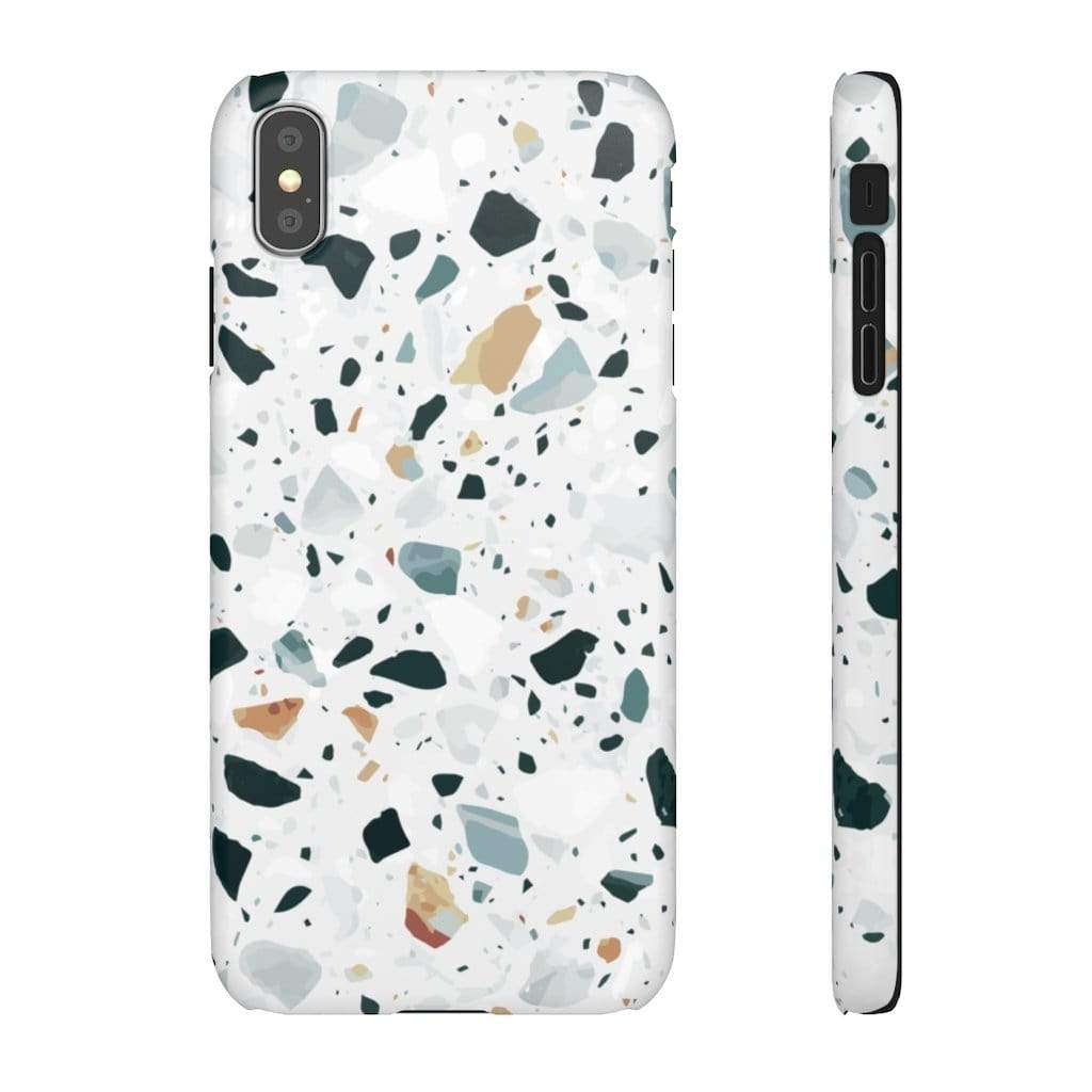 Printify iPhone Case iPhone XS MAX / Matte Terrazzo IPhone Snap Cases