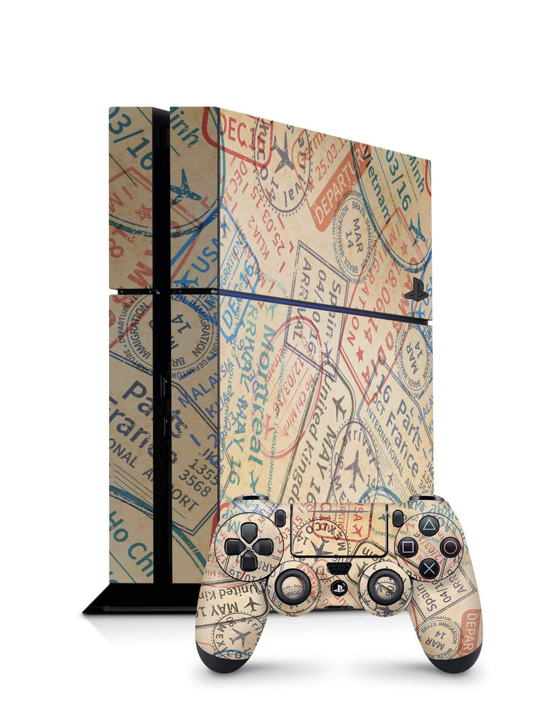 Decal Kings PlayStation 4 Skin PlayStation 4 / Console + Controllers Travel Stamps PS4 Skin