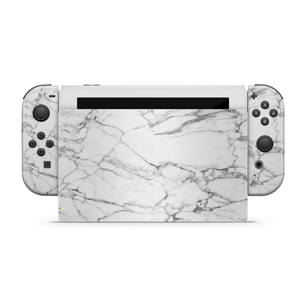 Decal Kings Nintendo Switch Skin White Marble Nintendo Switch Skin