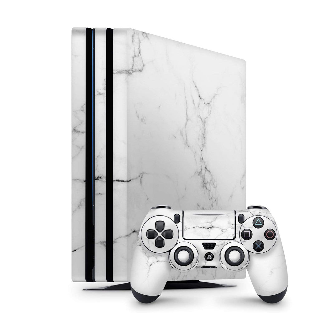 Decal Kings PlayStation 4 Skin PlayStation 4 Pro / Console + Controllers White Marble PS4 Skin