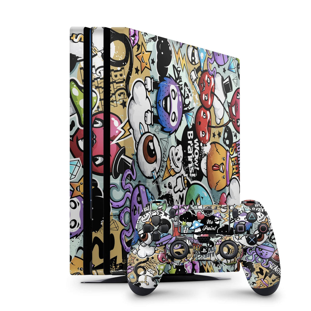 Decal Kings PlayStation 4 Skin PlayStation 4 Pro / Console + Controllers Zombie Cartoons PS4 Skin