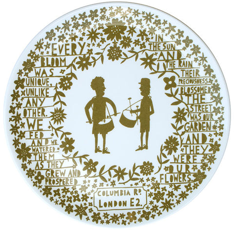 'Drumming Boys' Columbia Road Ceramic Plate