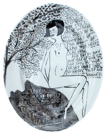 'There Will Never Be A Shortage Of The Amount Of Love Your Heart Can Grow' Ceramic Plate