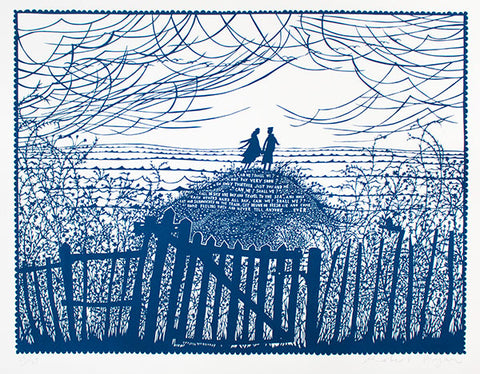 'Can We? Shall We?' Landscape Screenprint