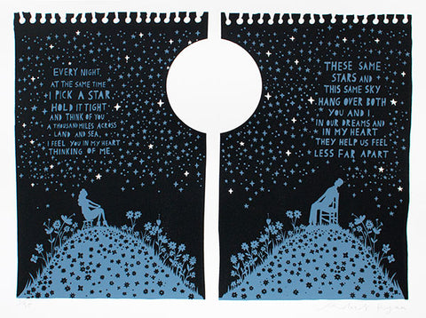 'These Same Stars' Screenprint