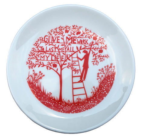 'Give Me Work' Limited Edition Small Ceramic Plate