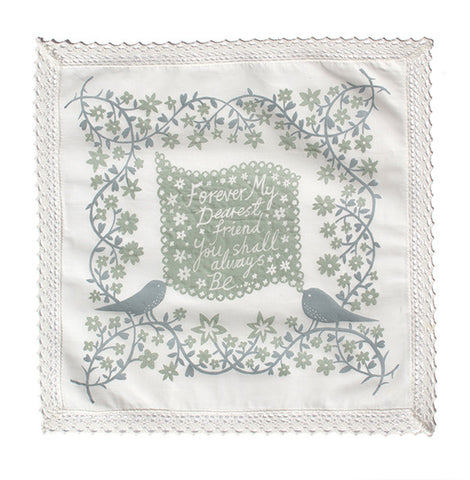 'Forever My Dearest Friend' Grey Handkerchief