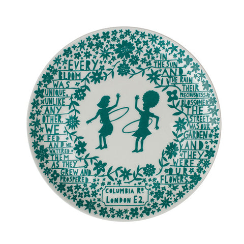 'Hoola Hoop Girls' Columbia Road Ceramic Plate