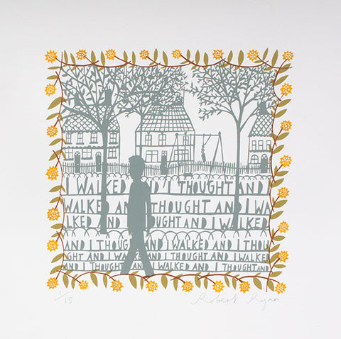 'I Walked' Screenprint, Aritst's Proof