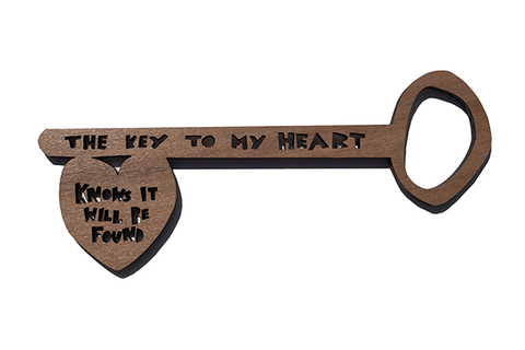 'The Key To My Heart Knows It Will One Day Be Found' Lasercut Key