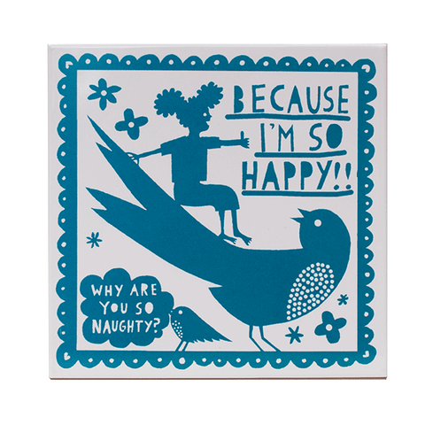 'Why Are You So Naughty? ' Ceramic Tile