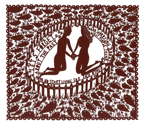 'Start Living for Each other' Lasercut