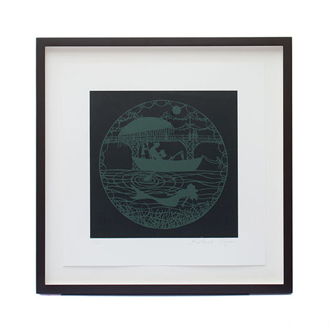 'Mermaid' Framed Screenprint