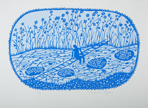 'No Stepping Stones' Screenprint