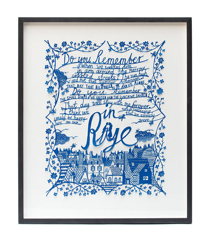 'In Rye' Framed Papercut