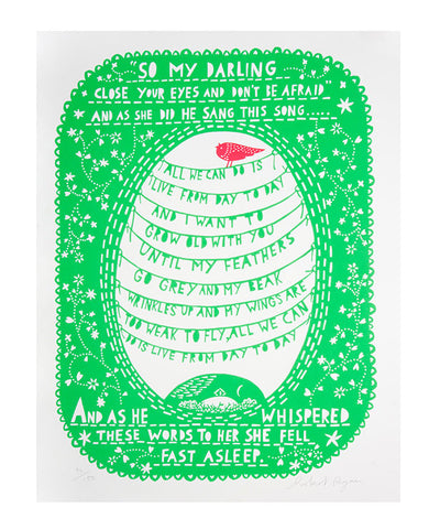 'So My Darling' Screenprint
