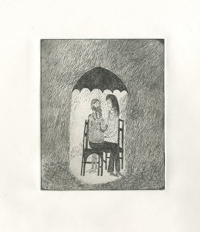 'Umbrella' Etching