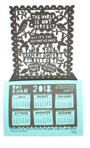 Lasercut Desk Calendar 2018