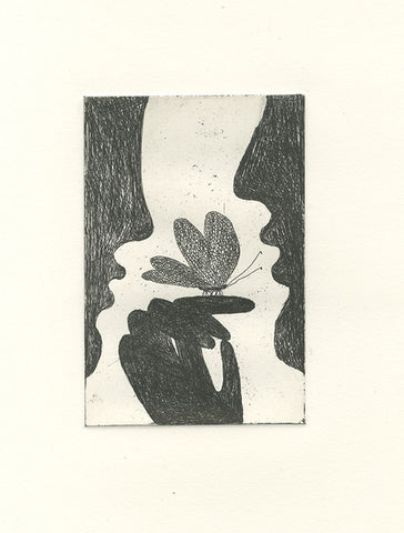 'Butterfly' Etching