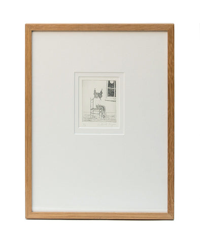 'Pajamas' Framed Etching