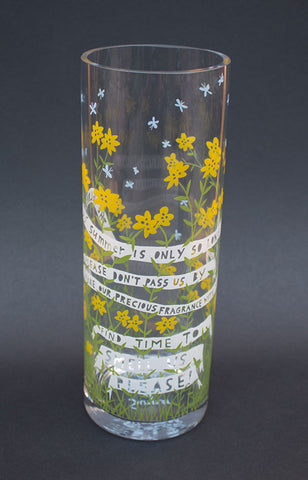 'The Glory Of Summer' Glass Vase