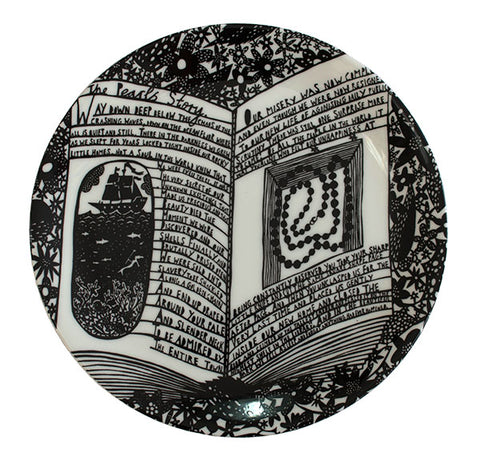 'The Pearls Story' Ceramic Plate