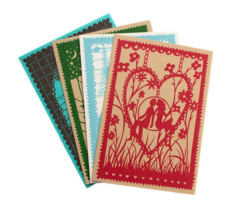 Greetings Cards Pack of Four, Spring Edition.