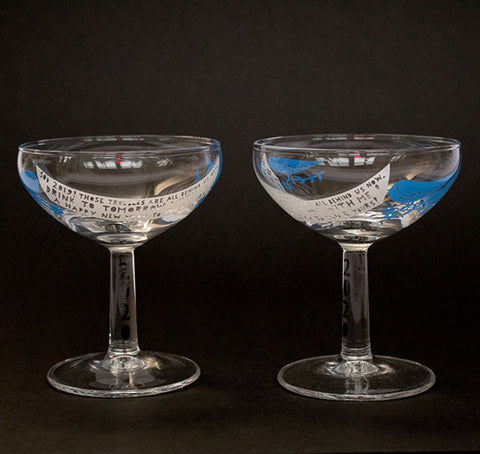 'Happy New Year 2020'  Pair of Champagne Glasses