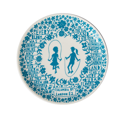 'Skipping Girls' Columbia Road Ceramic Plate