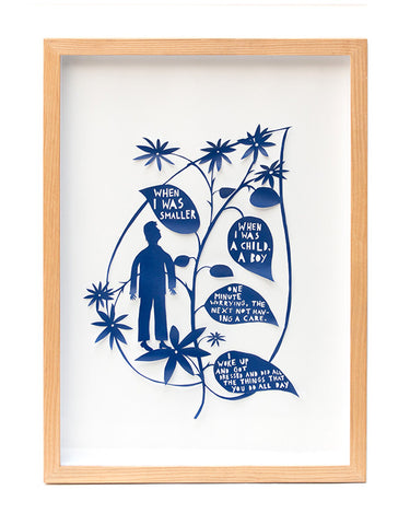 'When I Was Smaller' Framed Papercut