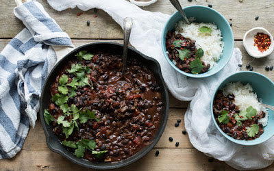 This Colombian black bean stew is not only super easy to make and utterly