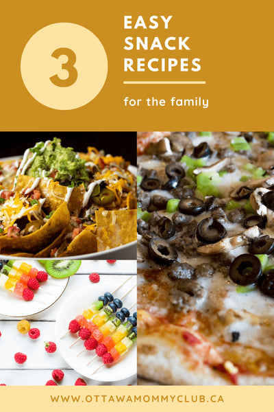 3 Easy Snack Recipes For The Family