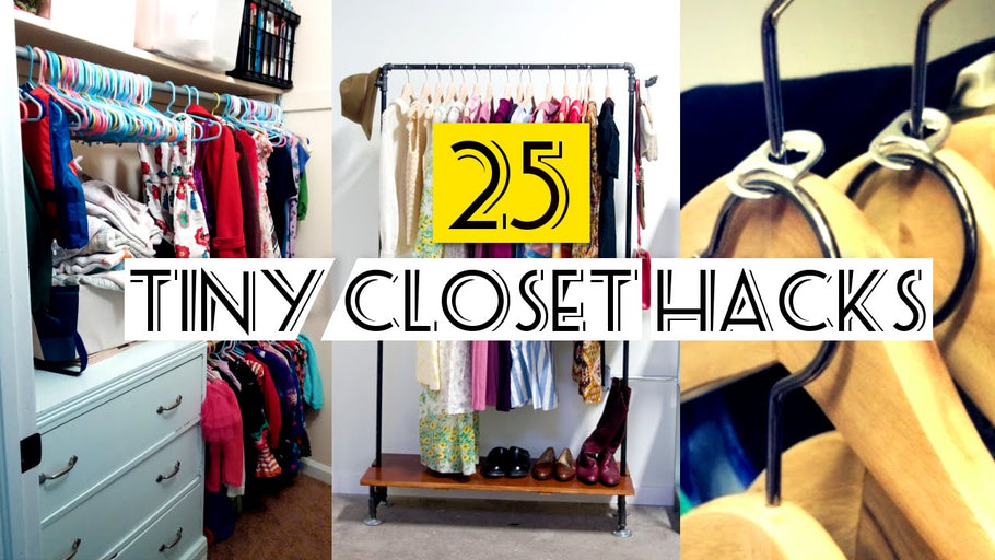 This is our 25 tiny closet organizing ideas: (Note: press CC button near setting video gear if voice over is difficult to understand) 1.▻0:23|First thing's first: Pare ...