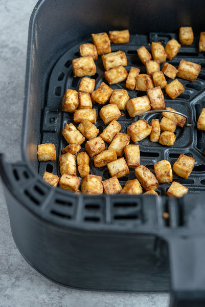How to make Air Fryer Tofu! If you have an air fryer, you'll want to save this healthy and easy recipe