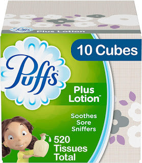 Amazon has these Puffs Plus Lotion Facial Tissues (10 Cubes, 52 Tissues per Box = 520 Tissues Total) for ONLY $10.70-$11.96 Shipped!!!