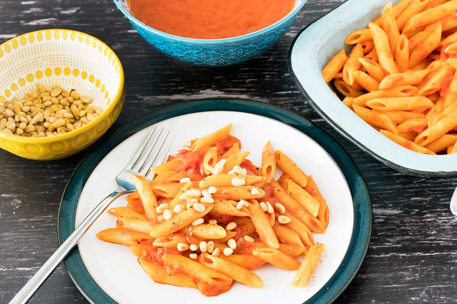 A deliciously creamy tomato sauce that is perfect with pasta